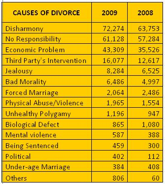 essays on divorce causes Essay on main causes of divorce 609 words 3 pages one of the main things  people do when they feel great chemistry between one another is get married.